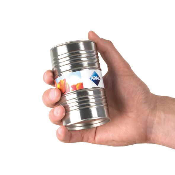 oil barrel with flower bulbs