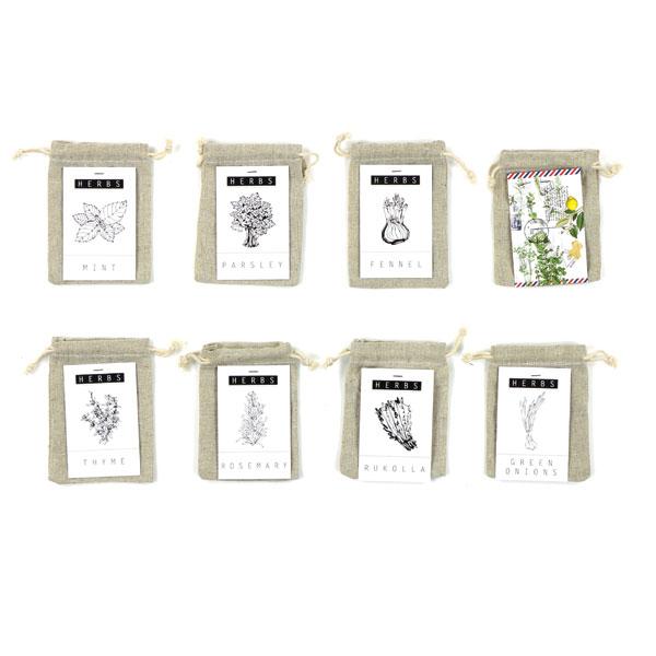 Linen herb bags